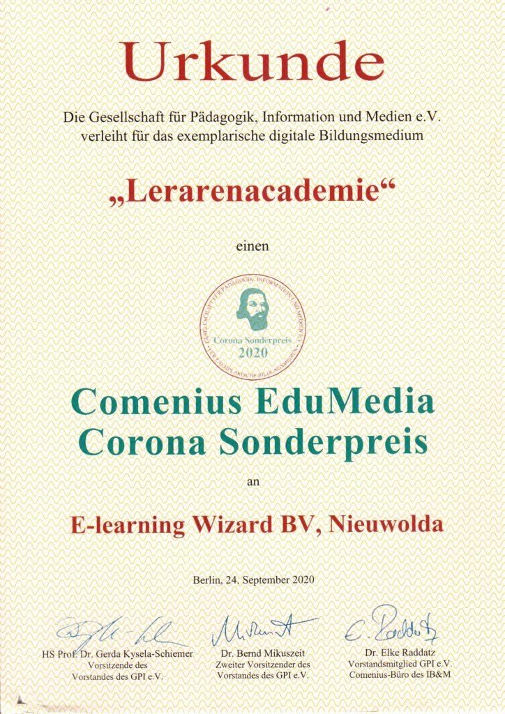 Comenius EduMedia Corona Sonderpreis