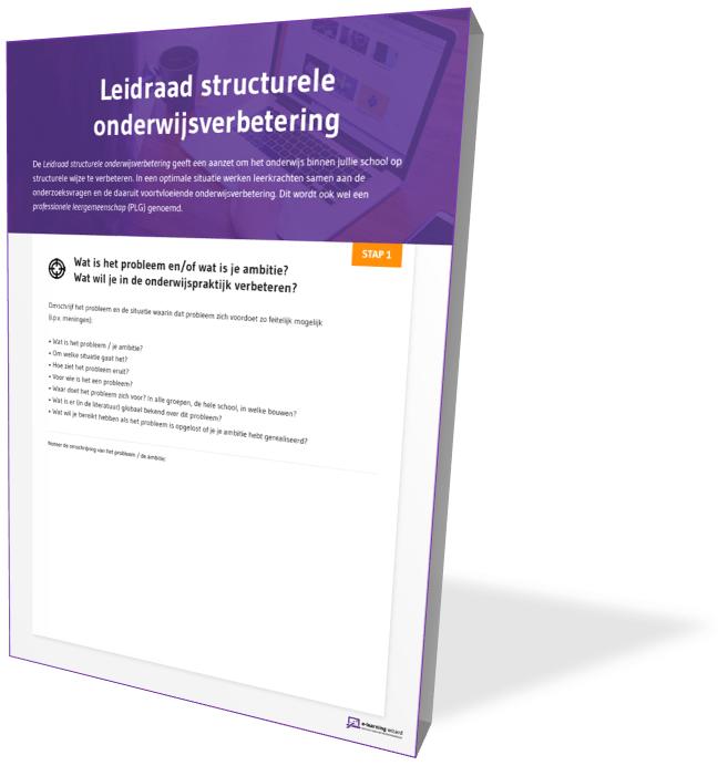 Omslag Leidraad structurele onderwijsverbetering
